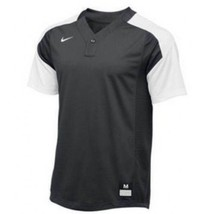 Nike Vapor Laser Baseball Short Sleeve Jersey Boy's Large Gray White 818543 - $22.76