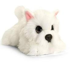 Keel Toys White Westie Dog 37cm Soft Toy Signature Puppy - $20.99