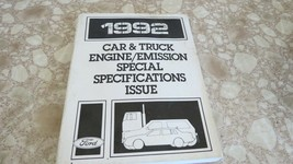 USED OEM Ford 1992 Car & Truck Engine/Emission Special Specs Issue Manual - $9.94