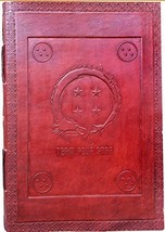 Jaald Handmade Dragon Ball Team four star embossed leather journal refil... - $27.60