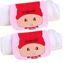 Lovely Shy Virgo Cotton Gauze Towel Wipe Sweat Absorbent Cloth Mat Towel 2 Pcs