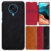 Nillkin for Xiaomi Poco F2 Pro Case Bumper Flip Shockproof with Card Slot Full C - $28.99