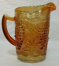 Beautiful Imperial Glass Marigold Carnival Grape & Cable 16oz  Milk Pitc... - $34.99