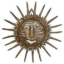 "Hand Made Sun Face - Drum Art -24"" Haiti  - Croix des Bouquets - £52.66 GBP"