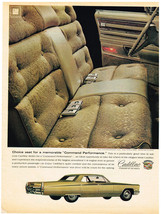 Vintage 1968 Look Magazine Ad for Cadillac Choice Seat for Command Performance - $5.93