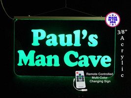 Personalized LED Man Cave Garage Sign, Gift for Dad, Bar Sign - $140.58