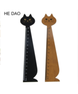 15cm Lovely Cat Shape Ruler Cute Wood Animal Straight Ruler Gift For Kid... - £11.22 GBP