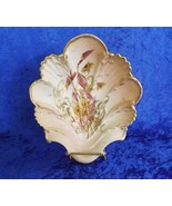 RW Royal Rudolstadt Soap Dish Sunflower Peach & Yellow 22K Gold Trim She... - $24.99