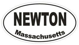 Newton Massachusetts Oval Bumper Sticker or Helmet Sticker D1445 Euro Oval - $1.39+