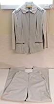 St. John Collection Vintage Sweatsuit Jacket Pants Gray Grey 1980 Sz 4 C... - $56.06
