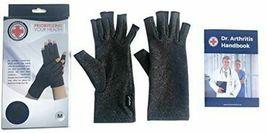 Doctor Developed Compression Arthritis Gloves -Size M - Handbook Included image 3