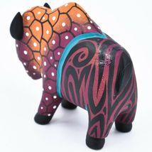 Handmade Alebrijes Oaxacan Wood Carving Painted Folk Art Buffalo Bison Figurine image 3