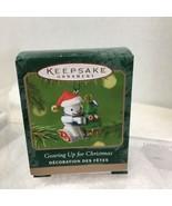 2001 Gearing Up Robot  Mini Hallmark Christmas Tree Ornament MIB PriceTa... - $9.41