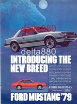 "1979 Ford Mustang Original Magazine Color Print Ad 8.5"" X 11"" ""The New B... - $7.95"
