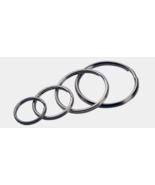 Hillman KEY RING 4pk Silver Tempered Steel ASSORTED ID Badge Trinkets 70... - $6.79