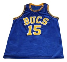Vince Carter #15 Mainland Bucs New Men Basketball Jersey Blue Any Size image 3