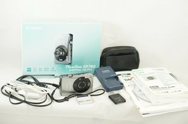 Canon PowerShot Digital ELPH SD750 7.1MP - Silver Camera, Battery, Charger - $38.22