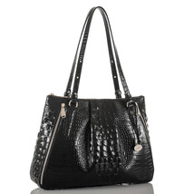 Brahmin Adina Melbourne Black Leather Shoulder bag - nwt - $251.37