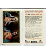 5 Prayer Holy Cards Sacred Heart of Jesus and the Immaculate Heart of Ma... - $9.95