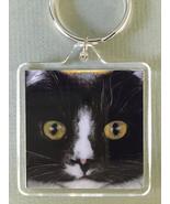 Square Cat Art Keychain - Homer Close - $7.00