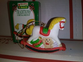 1996 Kwik Fill Traditions Ornament Holly the Rocking Horse Gas Station C... - $3.87