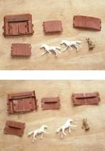 Fort Cheyenne Play Set Figure Lot Vintage Toy Soldier Giant Plastics - $19.99