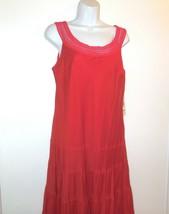 Jones New York Dress new Maxi Dress sz 14 Red Sleeveless NWT $148.00 Boh... - $36.75