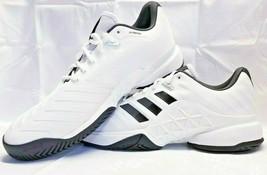 adidas Barricade 2018 Men's size 13.5 CM7819 White Black Tennis Shoes Ta... - £69.97 GBP