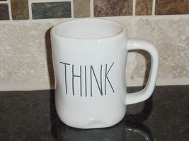 Rae Dunn THINK Mug, Ivory with Black Lettering - $12.00