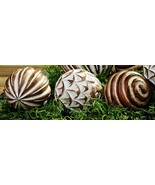Set of 3 Large Mango Wood Decorative Balls - $39.99