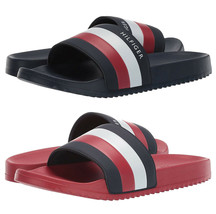 Men's Tommy Hilfiger Casual Designer Striped Slippers Rozi Slide Sandals