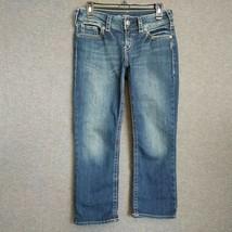Silver Jeans Suki Mid-Rise Capri Super Stretch Womens Jeans Sz W29 L23  - $17.82