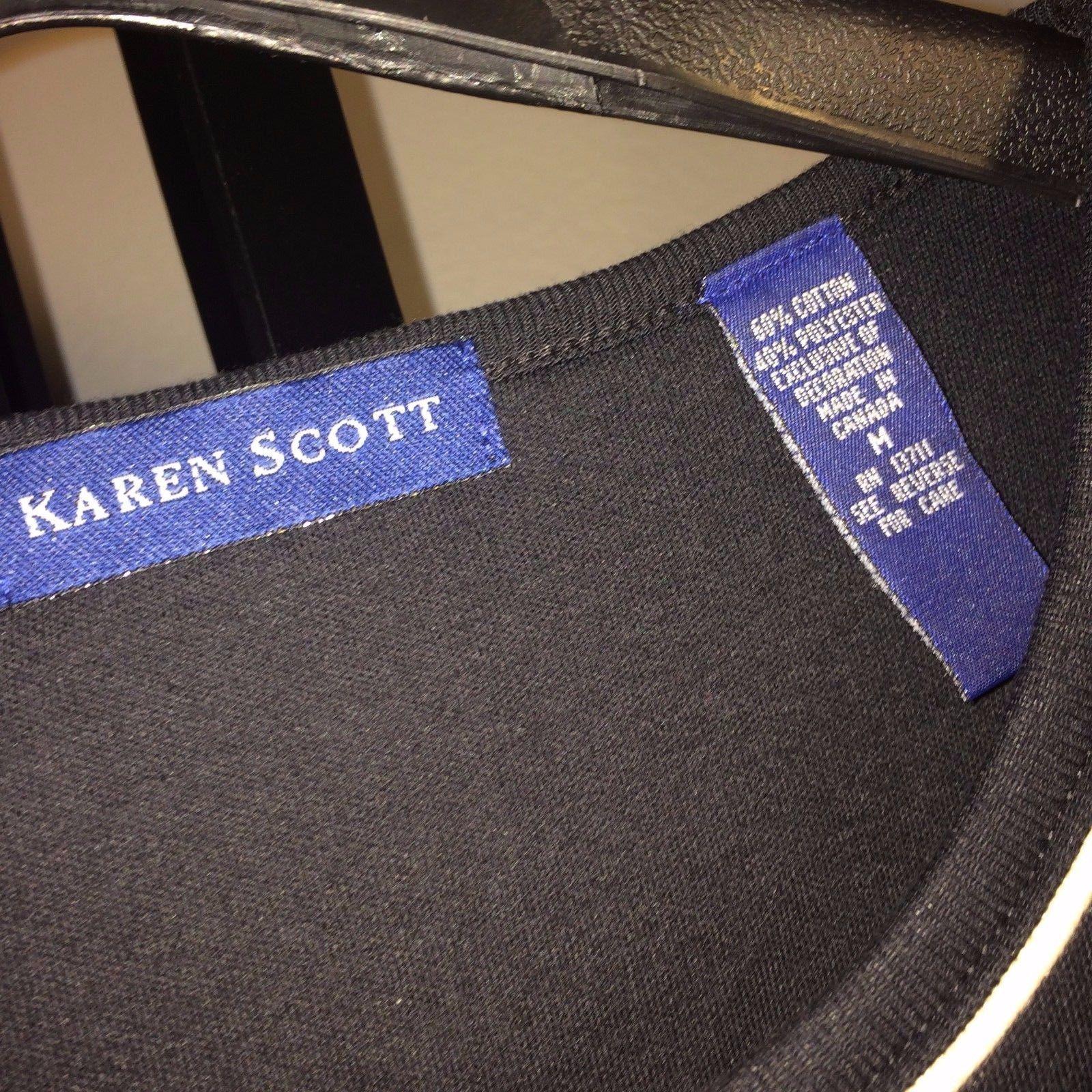 Karen Scott Graphic T-shirt Women's Medium Bin #2
