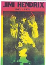 Jimi Hendrix 1942-1970 Vintage 11X17 Color Music Memorabilia Photo - $15.95