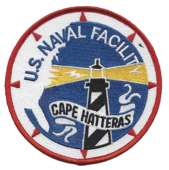 "Primary image for 4.5"" NAVY NAVAL FACILITY CAPE HATTERAS EMBROIDERED PATCH"