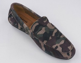 New Alfani Green Camo Suede Slip On Loafers Size 8 **Floor Sample - $16.82