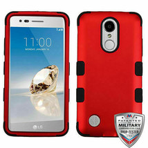 Titanium Red Miltary Grade Armor Shield Hybrid Cover Phone Case for LG LV3 - $2.96