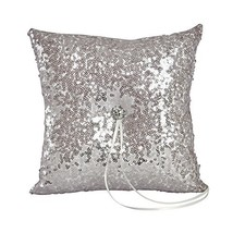 Ivy Lane Design Elsa Shiny Sequin Ring Pillow, Silver - $44.46