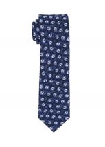 Tommy Hilfiger Men's Indigo Floral Neat Slim Tie, One Size, Navy - $14.84