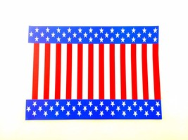 """50 Patriotic Dinner Size Paper Placemats 10"""" X 14"""" Stars and Stripes Design - $6.92"""