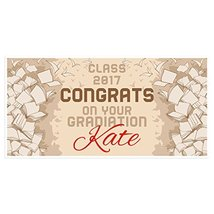 Flying Papers Graduation Banner Personalized Class of 2017 Party Backdrop - £16.88 GBP