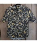 David Taylor Mens Tropical Pineapple Camp Short Sleeve Shirt 100% Cotton... - $17.42