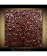 ORIGINAL Burgundy Red Abstract Painting Metallic Palette Knife TEXTUREd art - $173.25