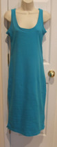 new in pkg newport news aqua beach cover up maxi dress size  small - $18.80