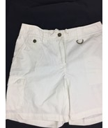 Jones New York Women White Cargo Shorts Size 10 100%Cotton In Style Simp... - $13.10