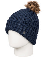 Roxy Blizzard Bobble Hat in Peacoat - $39.91