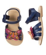 Gymboree Spice Market Navy Gold Pink Orange Butterfly Sandals Shoes NWT 7 8 - $12.99