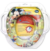 Disney Mickey Mouse Soft Potty Seat W/ Handles - $12.00