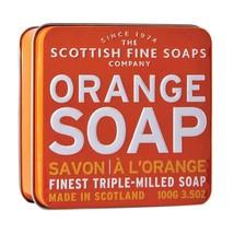 Scottish Fine Soaps Luxury Soap Orange Soap in a Tin 100g 3.5oz - $15.60