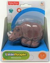 Fisher-Price Little People Nashorn Tier Zoo Wildleben Safari Abbildung S... - $11.34